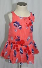 JANIE AND JACK baby girl 6-12 months CORAL FLORAL DRESS