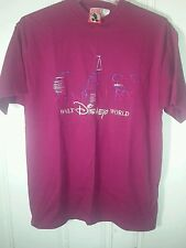 Walt Disney World burgundy L/Xl short sleeve shirt