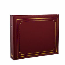 Deluxe Red 6'x4' Padded Cover 2-Ring Slip In Photo Album For 200 Photos AL-9169