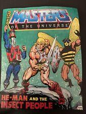 He-man Amos Del Universo Amos del universo Mini Comic que el hombre y la gente de insectos