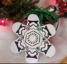 Star Wars TFA Force Awakens Stormtrooper Snowflake Christmas Ornament or Patch
