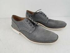 John Varvatos Gray Canvas Oxford Shoe Men's 11.5