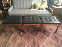 Vtg Mid Century Modern Walnut Stools/Benches -Probber Baughman Eames Knoll