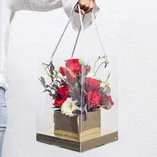 Christmas Transparent Bag PVC Portable Gift Box Flower Packaging Holder Favor