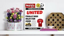 Personalised Unofficial United Red Side of Manchester Football Birthday Card