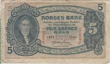Norway banknote P7-6434 5 Kroner 1943, F We Combine