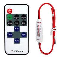 Kit Mini 12V RF Wireless Remote Switch Controller Dimmer for LED Strip Light