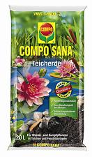 COMPO SANA Teicherde 20l Erde Teich Teichpflanzen Pflanzen Wasser Seerosen