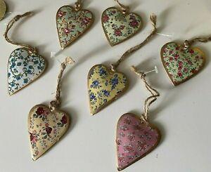 Sass & Belle Vintage Hanging Floral Heart Decoration - Various Designs Spring