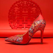 Pumps Damen Schuhe Stiletto Elegant Rot Hochzeitschuhe High Heels 32-39.40 Party