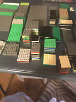 Lot Of 217 LEGO Baseplates Variety Of Sizes And Colors