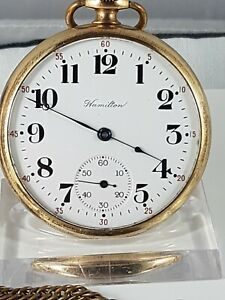 Hamilton Lancaster PA. 978 movement pocket watch, working, nice collector watch