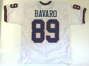 UNSIGNED CUSTOM Sewn Stitched Mark Bavaro White Jersey - M, L, XL, 2XL