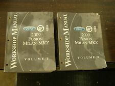 OEM Ford 2009 Fusion Milan MKZ Shop Manuals Books nos Lincoln Mercury