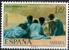 Spanish Sahara Desert Bedouins Ethnicities stamp 1971 MLH