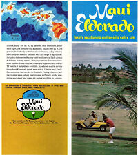 Maui Eldorado Kaanapali Beach Maui Hawaii Vintage 1970 Travel Brochure Photos