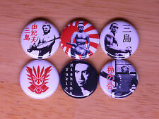 Yukio Mishima buttons badges pins japanese tatenokai japan literature nippon