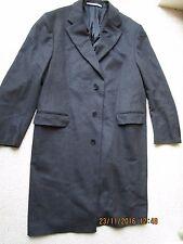 Italian Designer Davide Cenci Black Cashmere & Wool Men's Good Long Coat Jacket