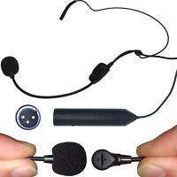 NEW 12-48v PHANTOM POWER 3pin XLR EAR HOOK HEAD WORN HEADSET CARDIOID MICROPHONE