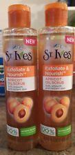 (2 Pack) St. Ives Exfoliate & Nourish Apricot Oil Scrub 4.23 FL OZ