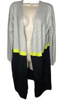 Allison Joy Evereve Elisa Color Block Cardigan Sweater Sz XL NEW NWT $88