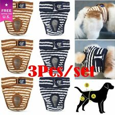 3pc Dog Diaper Female Puppy Physiological Panties Nappy Sanitary Pants Underwear