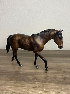 Breyer Trakehner Matte Variation Black Socks Retired Horse 854 John Henry Vtg