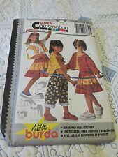 BURDA 3830 Ragazze Sewing Pattern età 6-10, 116 - 140cm- Nuovo Uncut