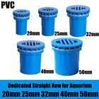 20mm~50mm PVC Tank Connector/Bulkhead Adhesive Pipe Fitting For Aquariums Blue