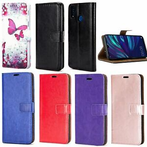 For Huawei Y7 2019 Phone Case Slim Leather Flip Shockproof Wallet Book Cover
