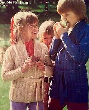 "FK7-Knitting Pattern-CHILDREN 'S DK Cardigan/Giacche/Cappotti - 22-28"""