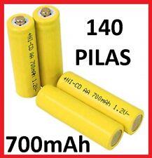 140 x PILAS RECARGABLES AA LR06 700mAh 1.2V Ni-Cd LR6 bateria cargador nuevas