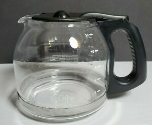 Mr. Coffee 12-Cup Carafe / Pot  Glass & Black Lid and Handle.