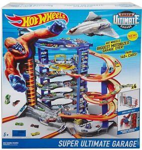 Hot Wheels Super Ultimate Garage Play Set Ages 5+ Toy Race Car Plane Jet Track
