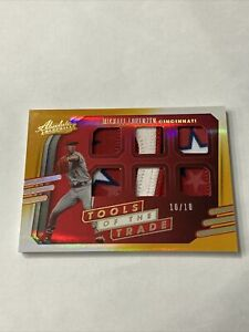 2021 Panini Absolute Michael Lorezen Tools of The Trade Gold 6 Patch /10 Reds