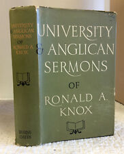 UNIVERSITY AND ANGLICAN SERMONS OF RONALD A. KNOX 1963 1st ed., Catholic