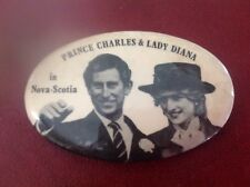 Souvenir Princess Diana Tour Pin Canada 1983 Nova Scotia