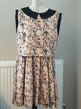 Love Label Dress Peter Pan Collar Size 14