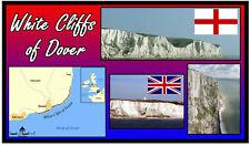 WHITE CLIFFS OF DOVER - SOUVENIR NOVELTY FRIDGE MAGNET - SIGHTS / FLAG / GIFTS