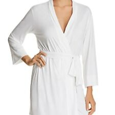 NWT NATORI $110 White FEATHERS ESSENTIAL WRAP ROBE Large L
