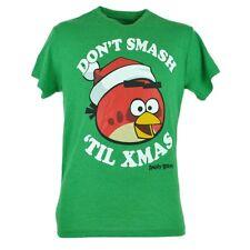 Angry Birds Dont Smash Til Xmas Christmas Graphic Humor Tshirt Tee Green