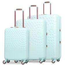 Aerolite Lightweight ABS Hard Shell 4 Wheel Luggage Suitcase with USB Port