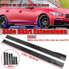 86.6'' Lower Side Skirts Rocker Panel Extension For Infiniti Q50 Q60 Q70 G25 G37