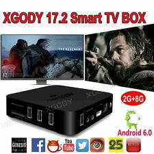 M8S PRO NEW KODI 17.2 XGODY Android 6.0 Quad core TV BOX 4K Movies sports 2G/8G