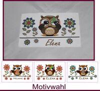 Brillenputztuch Eulchen-Eule Motivwahl mit Wunschname Name