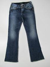 Silver Jeans Suki Surplus Trousers Hose Denim Jeans Pantalone Blau Neu 28