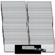 100 BLANK 1 X 3 SILVER NAME BADGE KIT (U)  TAGS BEVELED MAGNETS CLEAR LABELS