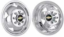 """2011-2017 Chevy 17"""" wheel simulators Chrome Plated  Stainless with logos"""
