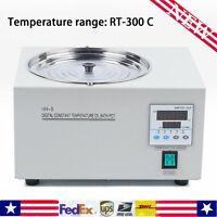 Digital Thermostatic Lab Oil Bath, RT 300°C, 3L Capacity 400W for Distillation