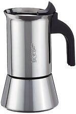 Bialetti Venus Espressokocher Induktion Espressokanne Kaffee Edelstahl INOX